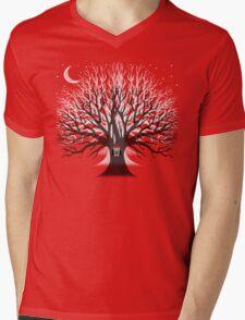 MOONLIGHT OWL Mens V-Neck T-Shirt
