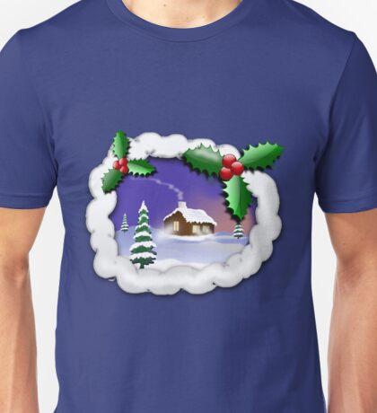 Snowy Christmas Unisex T-Shirt