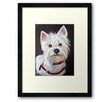 Little White Terrier Framed Print