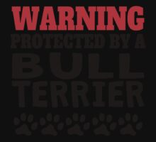 Protected By A Bull Terrier One Piece - Short Sleeve
