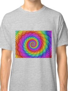 Psychedelic Rainbow Spiral  Classic T-Shirt