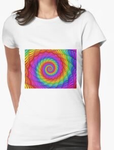 Psychedelic Rainbow Spiral  Womens Fitted T-Shirt