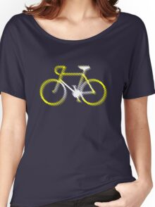 Lightweight White Yellow Velo Women's Relaxed Fit T-Shirt
