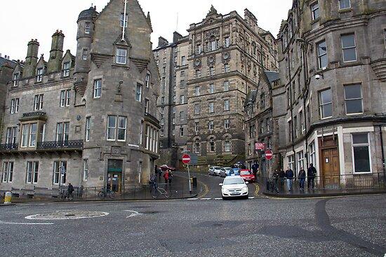 Cars near Edinburgh Castle by ashishagarwal74