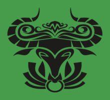 Zodiac Sign Taurus Black by elangkarosingo