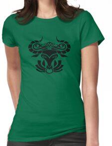 Zodiac Sign Taurus Black Womens Fitted T-Shirt