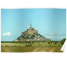 Mont St Michel in France Poster