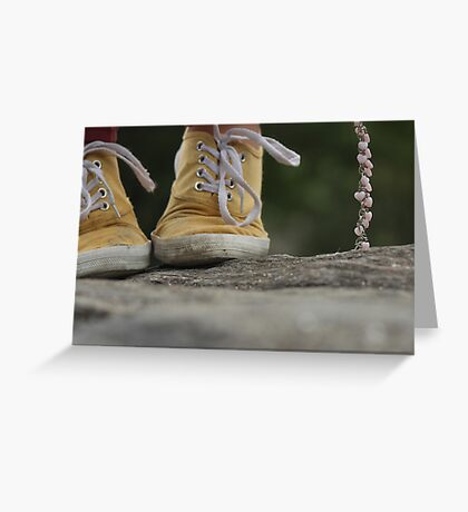 Yellow Keds with a Chain of Hearts Greeting Card