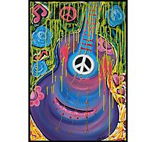 Peace Guitar - Hippie Abstract Art Photographic Print