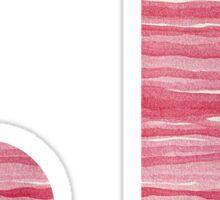 Letter J Red Watercolor Stripes Initial Monogram Sticker