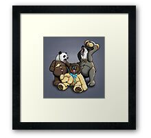The Three Angry Bears Framed Print