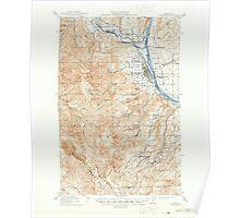 USGS Topo Map Washington State WA Wenatchee 244603 1915 62500 Poster
