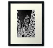 The Gherkin Building London Framed Print