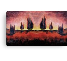 Tuscany Dreams Oil Painting Canvas Print