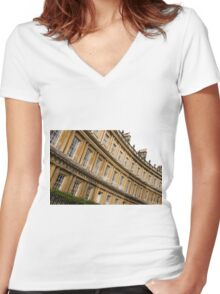 The Circus, Bath Women's Fitted V-Neck T-Shirt