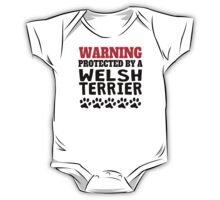 Protected By A Welsh Terrier One Piece - Short Sleeve