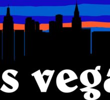 Las Vegas - Nevada. Awesome skyline silhouette Sticker
