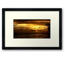 Golden sunset over the Pacific Framed Print