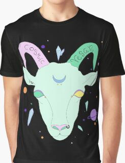 Cosmic Vegan Goat. Graphic T-Shirt