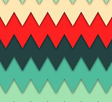 Colorful Zig Zags by perkinsdesigns