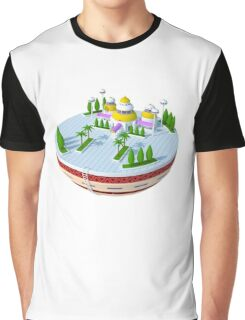 3D Kami's Lookout - Dragon Ball (No Background)  Graphic T-Shirt