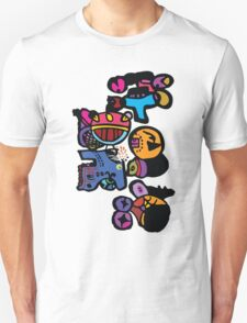 Funny cartoon characters graphic tee T-Shirt