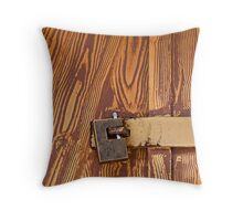 Locked-up Throw Pillow