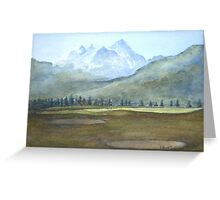 Golf course by Edward Scale Greeting Card