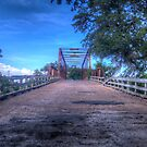 Clifton Whipple Truss Bridge - Clifton, Bosque County, Texas  by Terence Russell