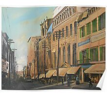 Old Norfolk, Virginia, Main Street Circa 1900 Poster