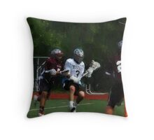 051612 076 1 oil  boys lacrosse Throw Pillow