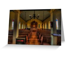 Inside the Old Norse Church (AKA St. Olaf's or The Old Rock Church) Greeting Card