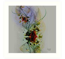 Pastel Tones Abstract Digital Art Art Print