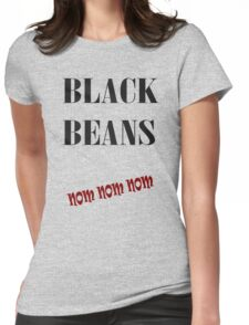 Black Beans Womens Fitted T-Shirt