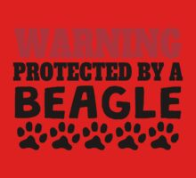 Protected By A Beagle Kids Tee