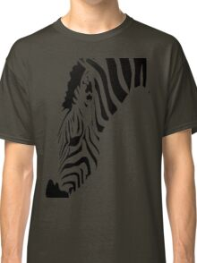 Grazing Zebra Vector Isolated On White Classic T-Shirt