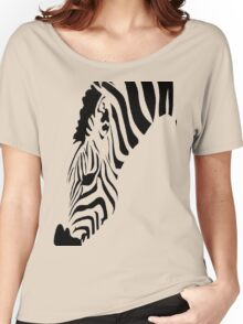 Grazing Zebra Vector Isolated On White Women's Relaxed Fit T-Shirt