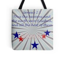 The Heavens and Earth Were Finished . . . Tote Bag