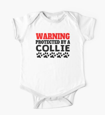 Protected By A Collie One Piece - Short Sleeve
