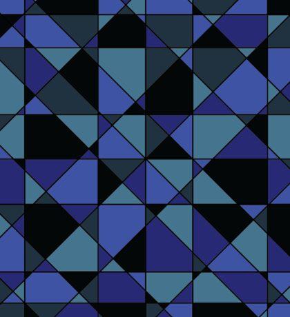 Unique Bold Hip Blue Cyan Grey Black Geometric Pattern Sticker