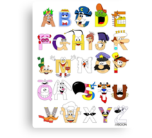 Breakfast Mascot Alphabet Canvas Print