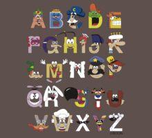 Breakfast Mascot Alphabet One Piece - Short Sleeve