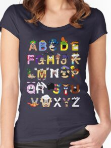Breakfast Mascot Alphabet Women's Fitted Scoop T-Shirt
