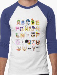 Breakfast Mascot Alphabet Men's Baseball ¾ T-Shirt