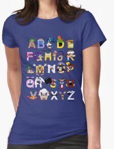 Breakfast Mascot Alphabet Womens Fitted T-Shirt
