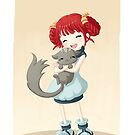 Girl and a Cat by freeminds