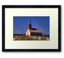 The Old Rock Church and St. Olaf's Cemetery Framed Print