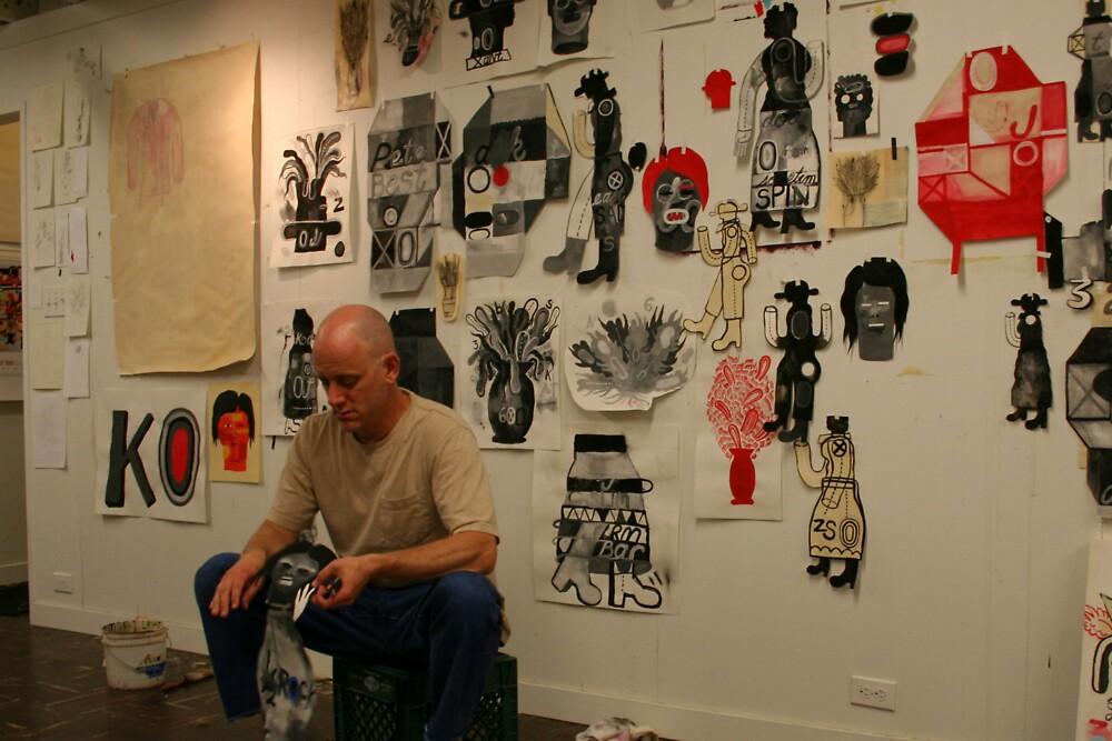 In the Studio - Working by Honario