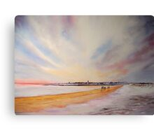 Winter on St Andrews Canvas Print