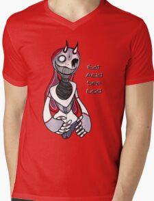 Eat Acid See God Mens V-Neck T-Shirt